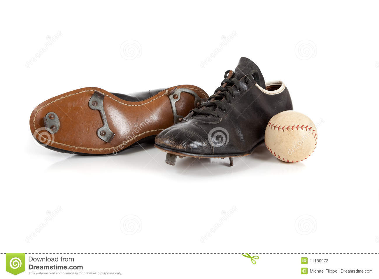 Baseball Cleats On A White Stock Photography   Image  11180972