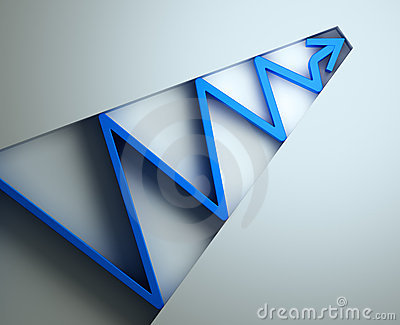 Blue 3d Arrow Stock Images   Image  13626584