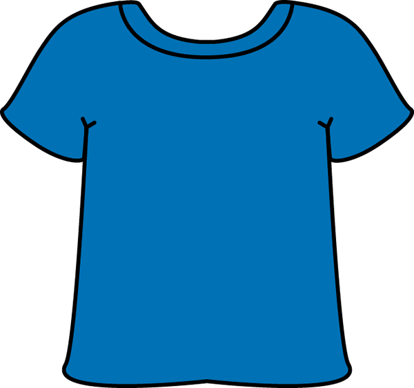 Blue Tshirt Clip Art   Blank Blue Tshirt That Can Be Edited To Include