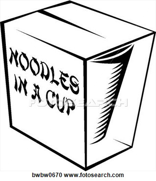 Clipart Of Noodles In A Cup