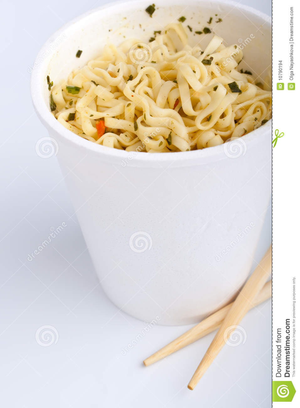 Cup Of Ramen Noodles Stock Images   Image  10790194
