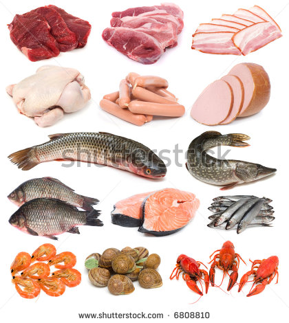 Fish Meat Clipart Image Set Of Fresh Meat Fish