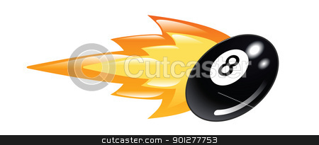 Flaming 8 Ball Stock Vector Clipart Illustration Of A Flaming Eight