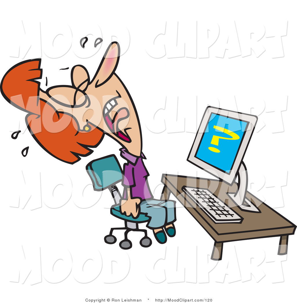 Frantic Office Worker Clipart   Cliparthut   Free Clipart