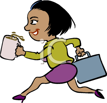 Free Clip Art Image  African American Businesswoman Hurrying To Work