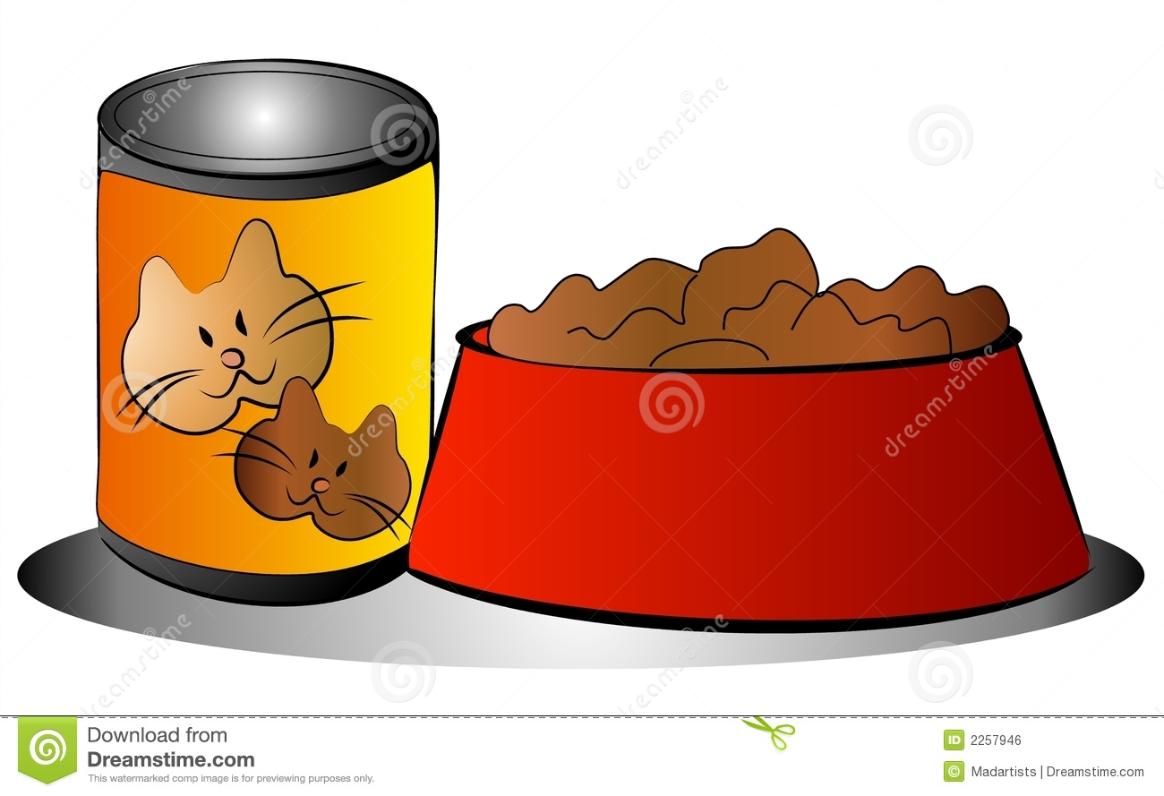 Free Clip Art Of Food Pet Cat Food Can Bowl Clip Art Royalty Free