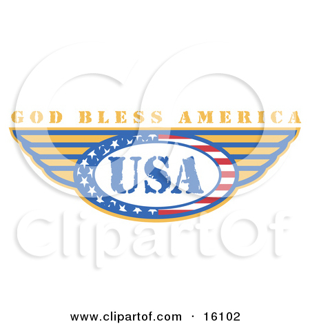 Free  Rf  God Bless America Clipart Illustrations Vector Graphics  1