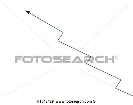 Illustration Of Zig Zag Growth Arrow K1348429   Search Vector Clipart