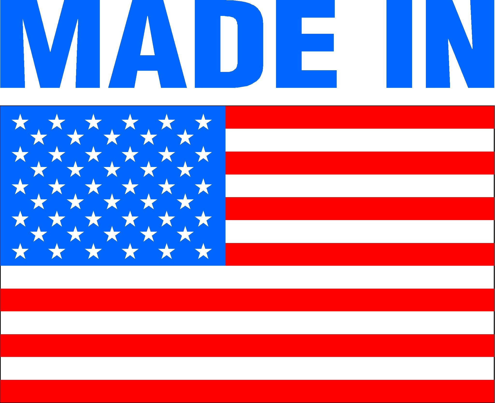 Made In Usa Logo Simple Clipart Text Above The American Flag Pictures