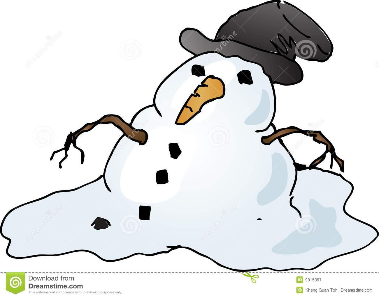 Cute Melting Snowman Clipart - Clipart Kid