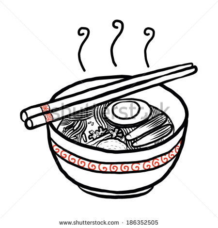 Noodles Clipart Black And White Noodle In Cup With Chopsticks