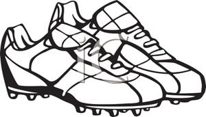 Pair Of Football Cleats   Royalty Free Clipart Picture
