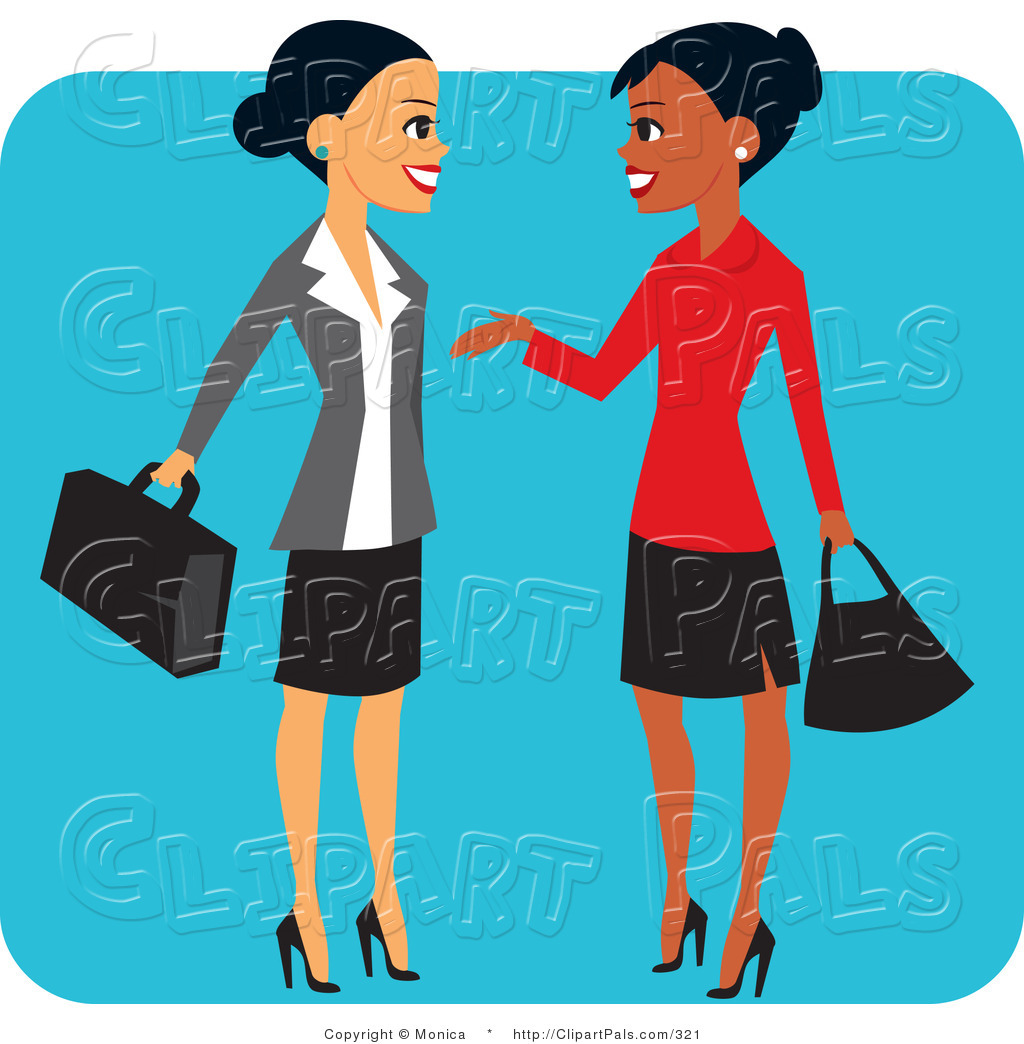 Pal Clipart Pal Clipart Of A Pretty Hispanic And Black Business Women