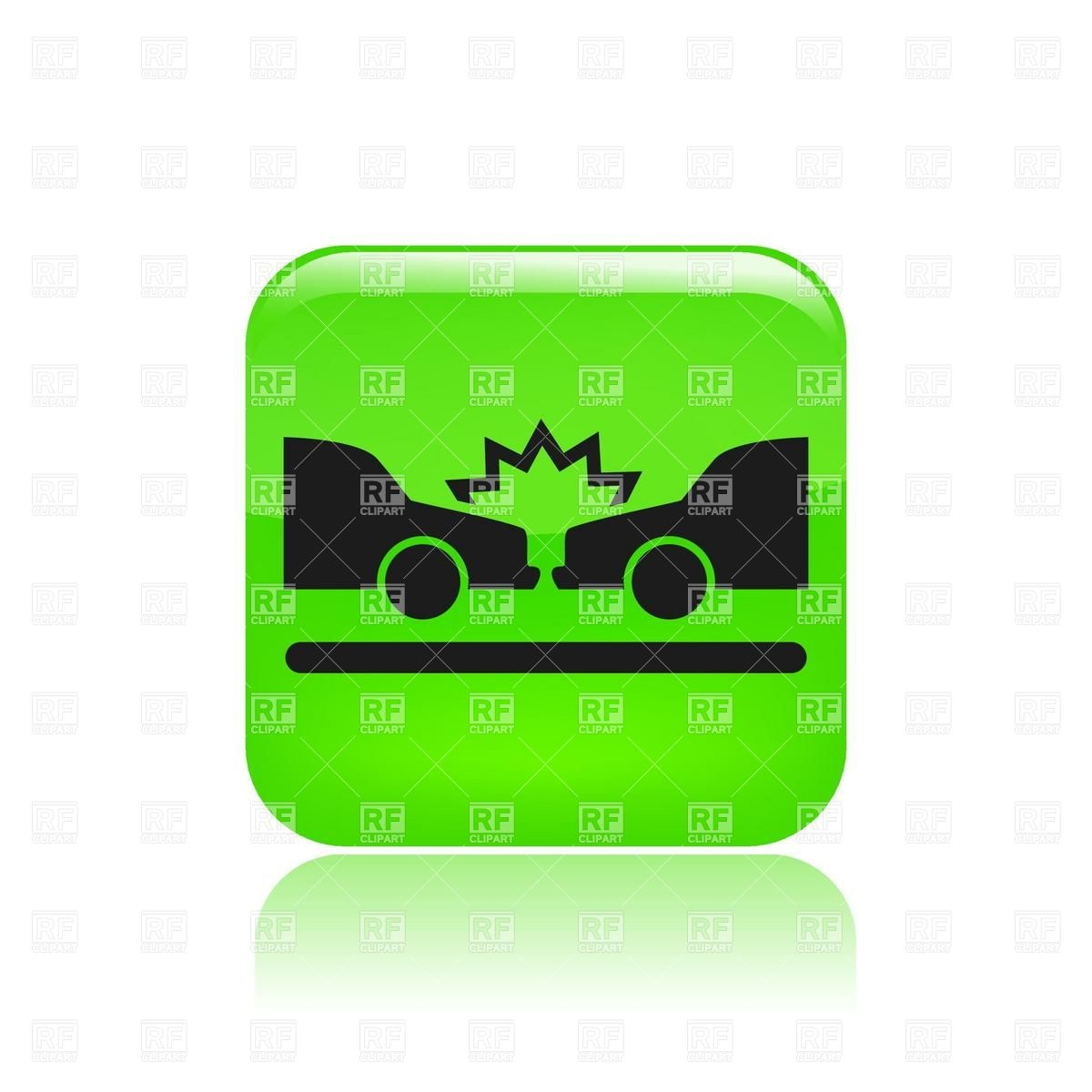Road Accident Icon   Car Crash Download Royalty Free Vector Clipart
