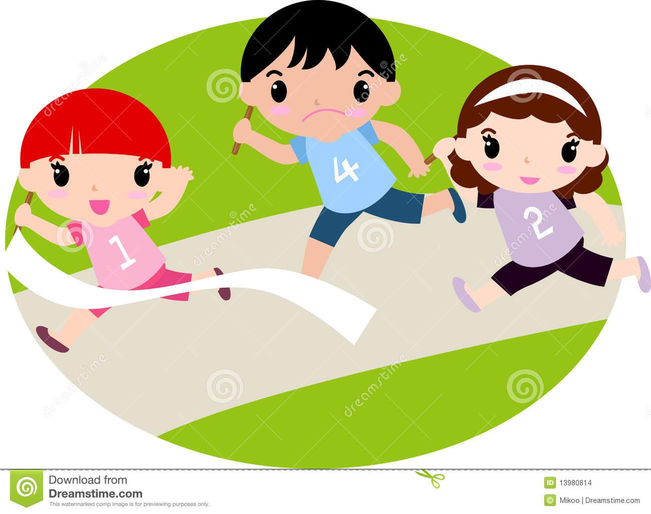 Running Race Clipart - Clipart Kid