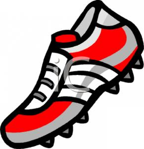 Soccer Cleat Clip Art Image
