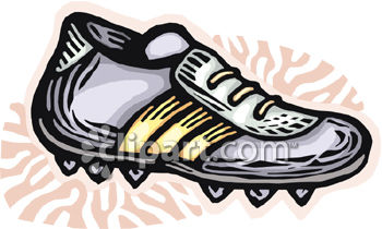 Sports Cleat   Royalty Free Clipart Picture