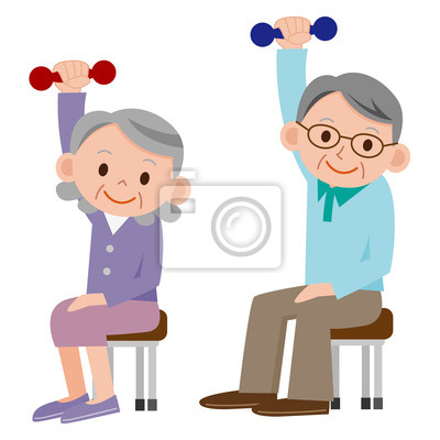 Elderly People Exercising Clip Art Bing Images