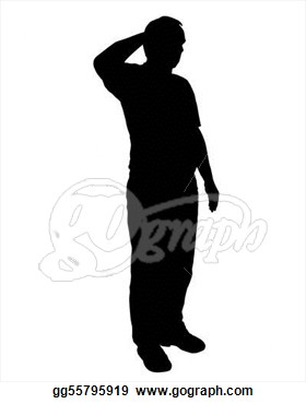 Stock Illustration   Military Salute  Clipart Illustrations Gg55795919