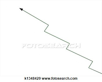 Stock Illustration   Zig Zag Growth Arrow  Fotosearch   Search Clipart