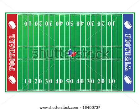 Stock Vector   Illustration Of A Football Field With Red And Blue End