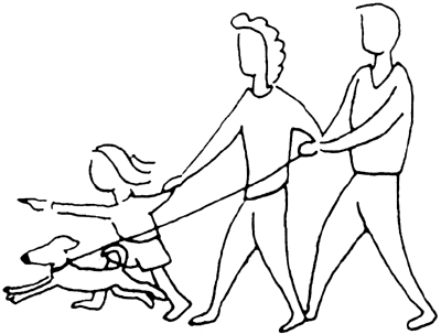 To Go For A Walk Clipart Home   Family Clip Art
