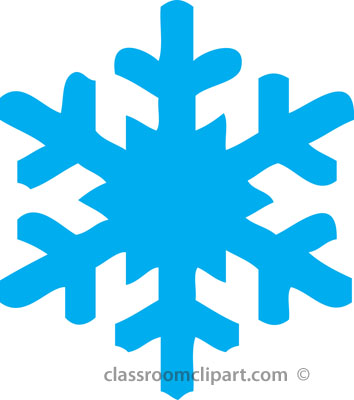 Weather   Blue Snowflake Winter 212   Classroom Clipart