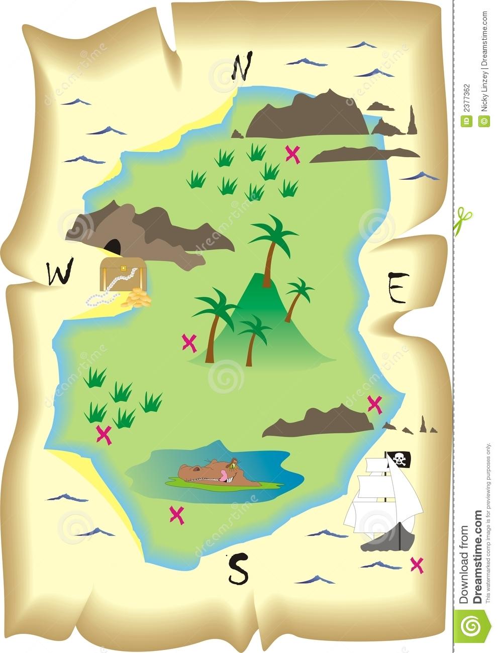 Treasure Hunt Map Clipart - Clipart Kid