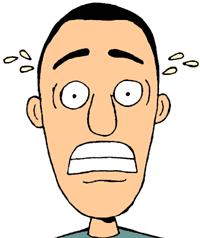 Anxious face clip art