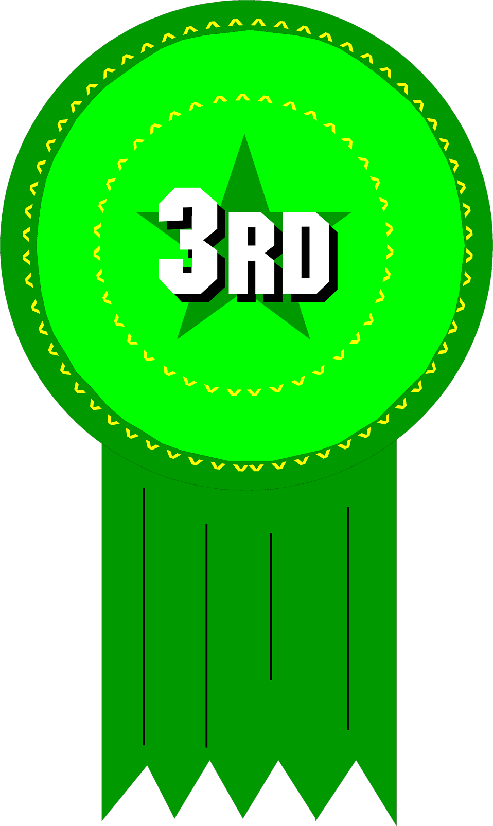 Award   Free Stock Photo   Illustration Of 3rd Place Ribbon     7943