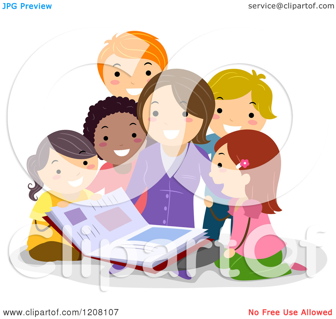 teacher to students reading clipart clipart kid