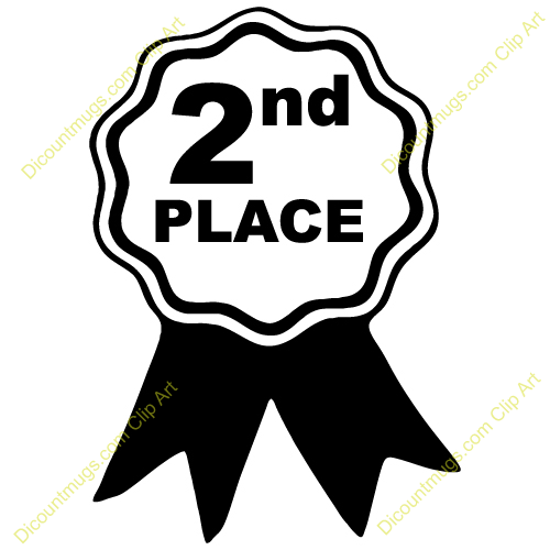 Clipart 12414 Second Place   Second Place Mugs T Shirts Picture