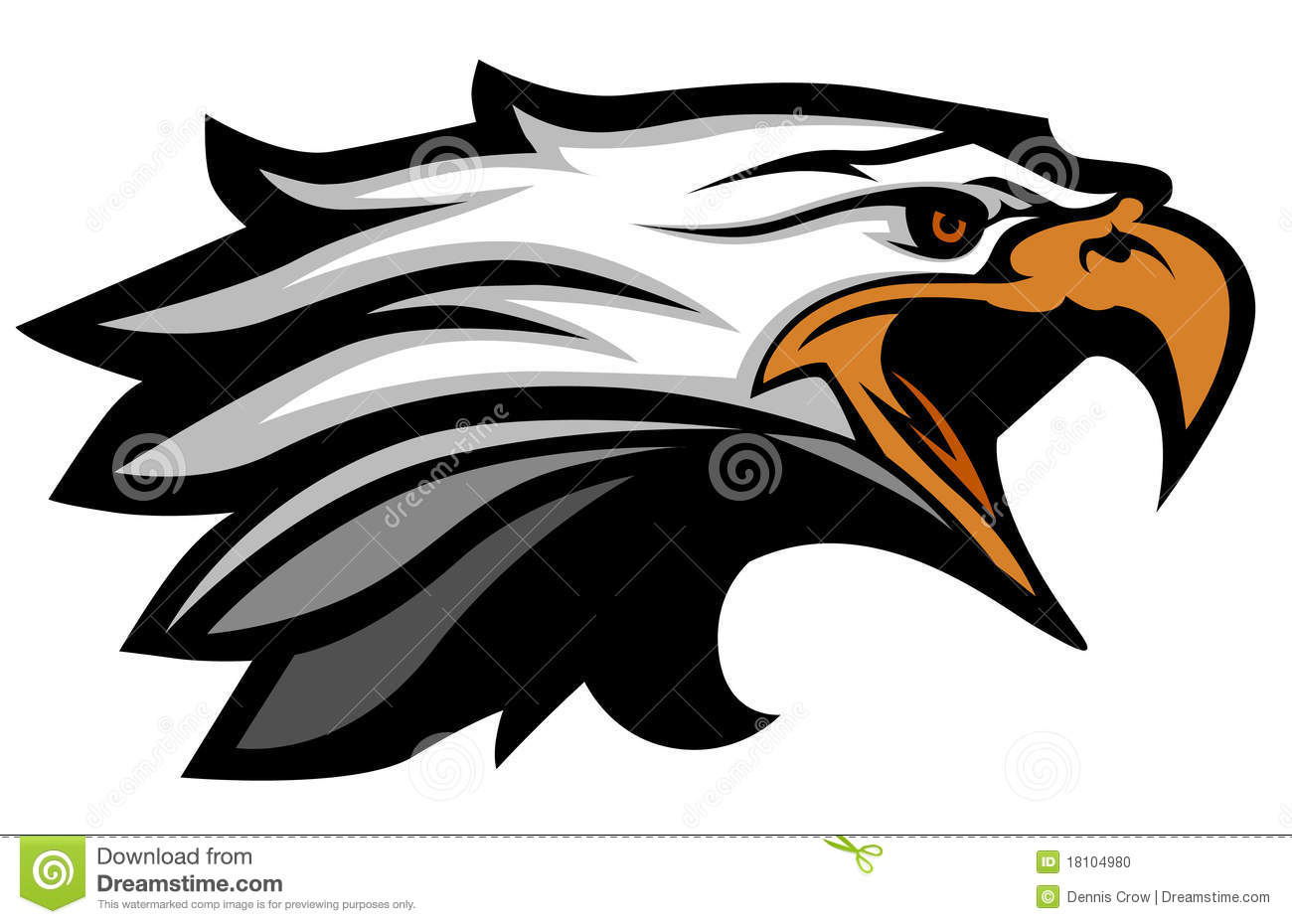 Eagle Head Mascot Clipart Vector Eagle Head Mascot Logo 18104980 Jpg