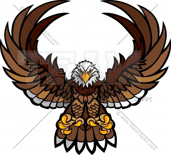 Eagle Mascot Clipart Logo In An Easy To Edit Vector Format Mascot