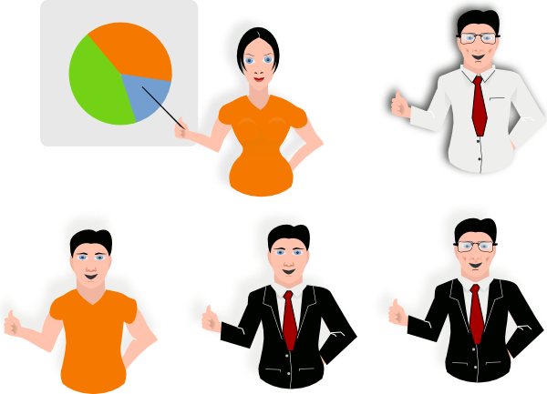 Group Presentation Clipart People Clip Art   Vector Clip