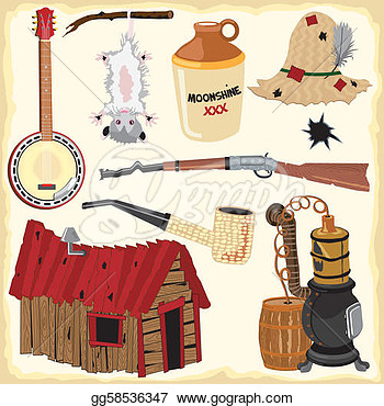 Hillbilly Clipart Icons And Element  Eps Clipart Gg58536347   Gograph