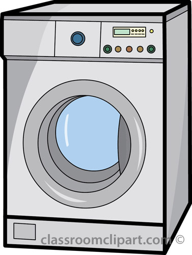 Household   Wash Machine 01 07   Classroom Clipart