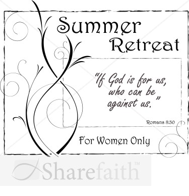 Summer Retreat With Romans   Women S Ministry Word Art