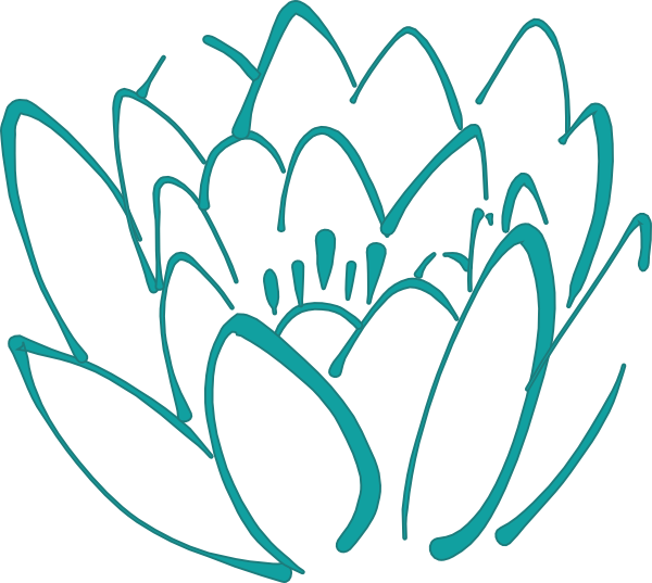 teal flower clipart clipart suggest