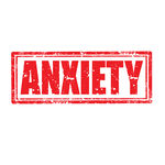 Anxiety Stamp   Grunge Rubber Stamp With Word Anxietyvector