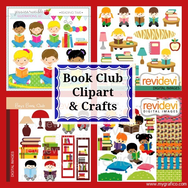 Book Club Clipart   Crafts