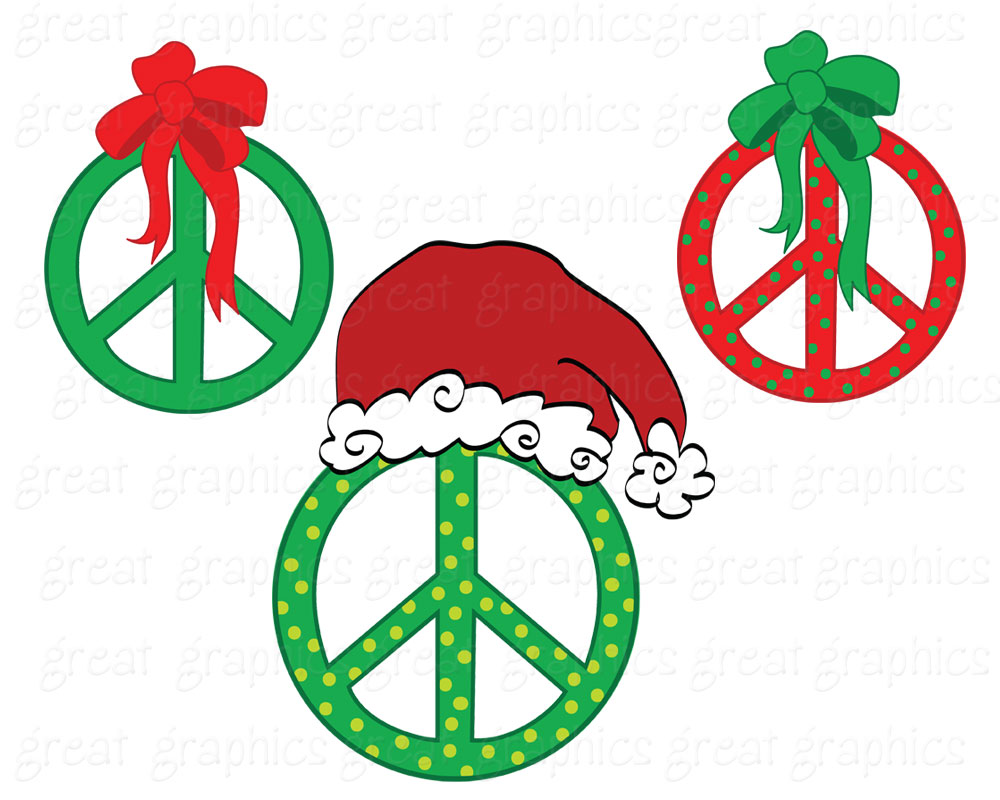 free christmas peace on earth clipart - photo #37