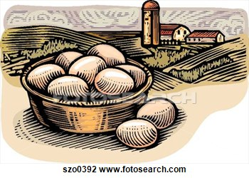 Clip Art   Farm Fresh Eggs  Fotosearch   Search Clipart Illustration