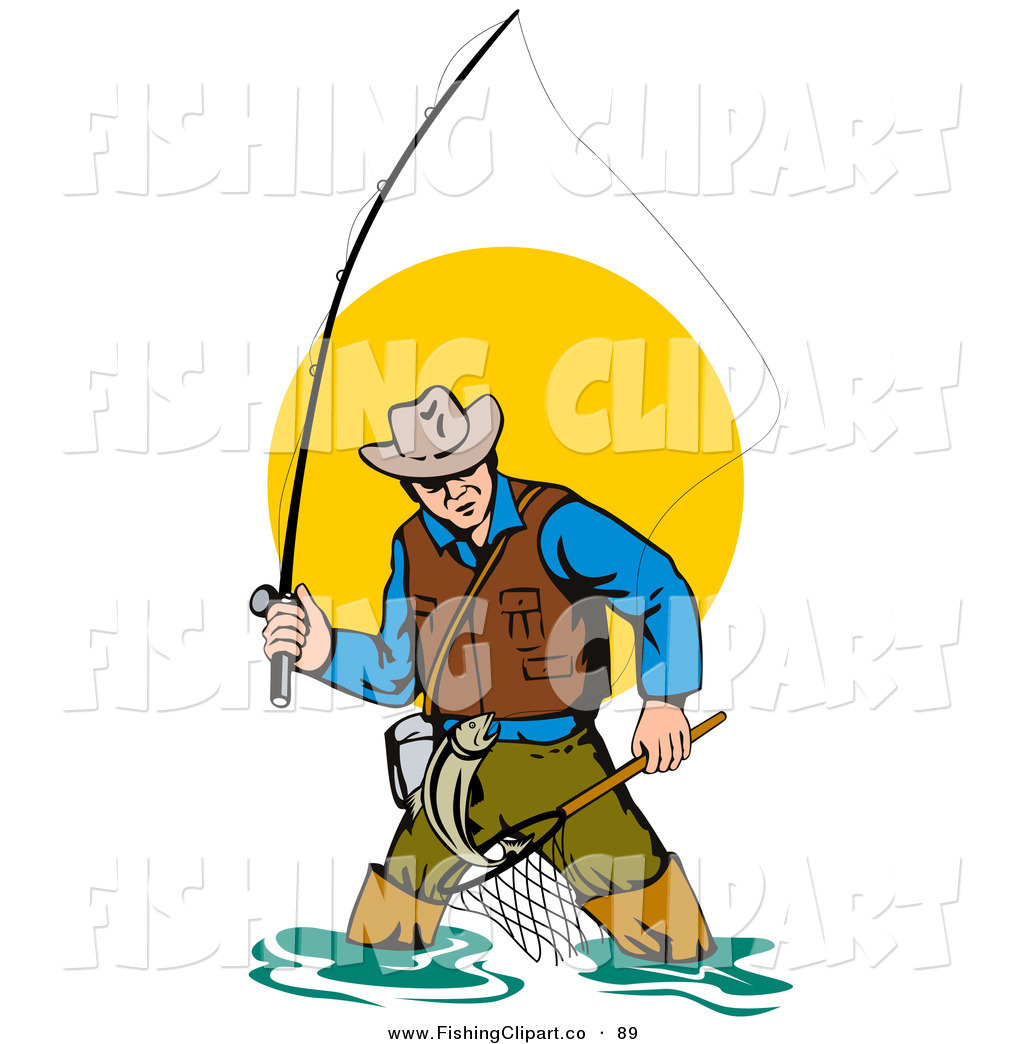 how to draw a cartoon fisherman