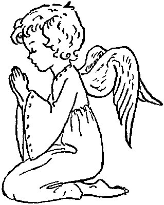 Praying Angels Free Clipart - Clipart Kid