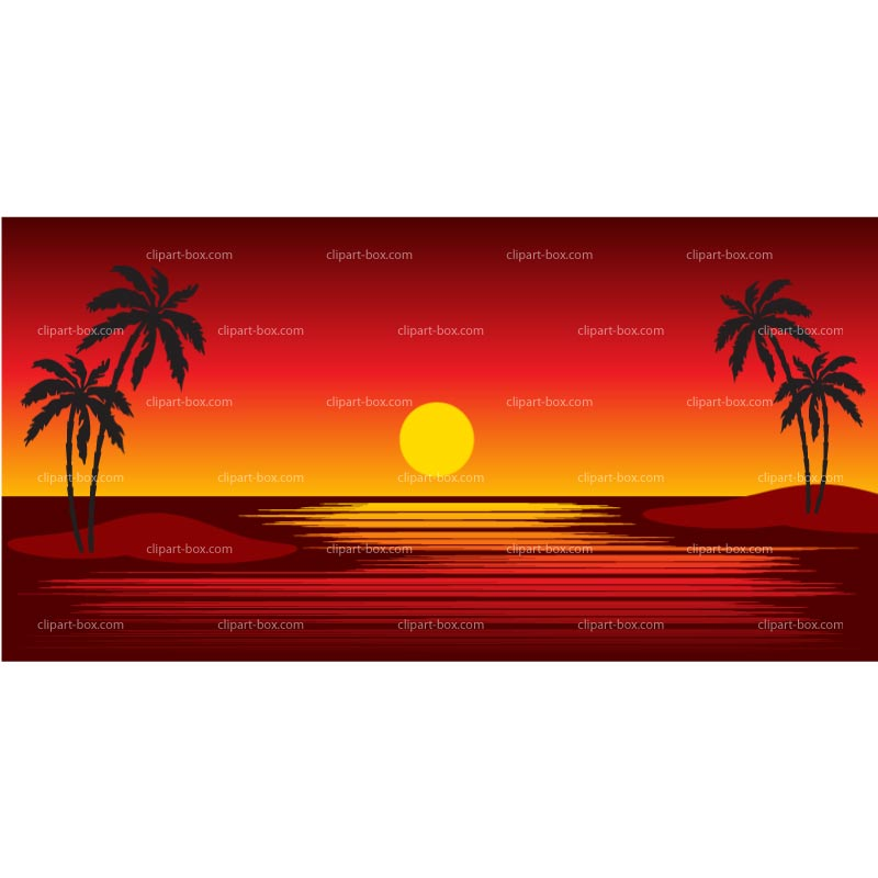 Beach Sunset Clipart - Clipart Suggest