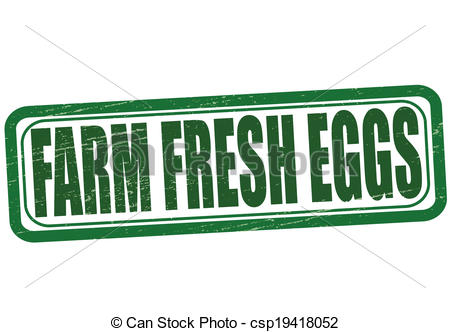 Clipart Vector Of Farm Fresh Eggs   Stamp With Text Farm Fresh Eggs
