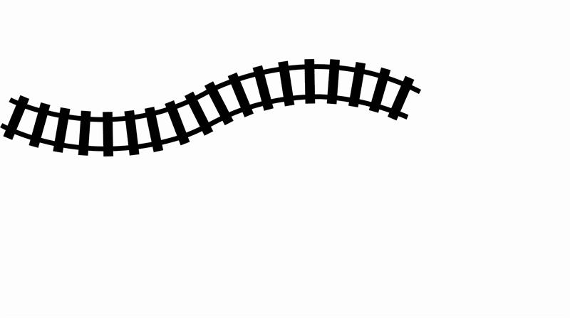Curved Train Track Clipart