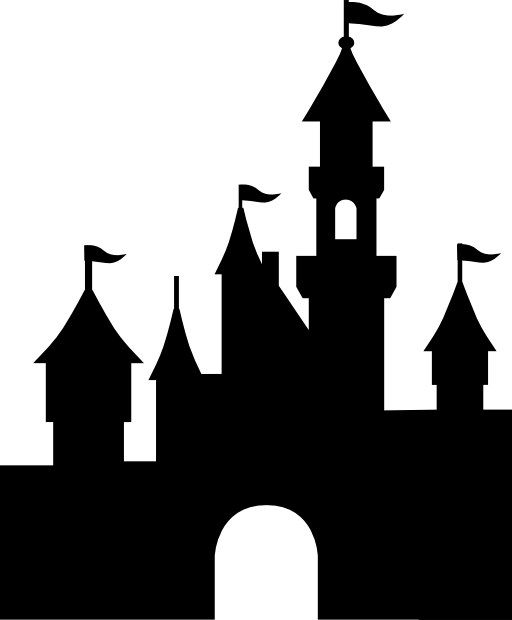 Disneyland Castle Silhouette 5361 Disneyland Paris Castle Vector Png