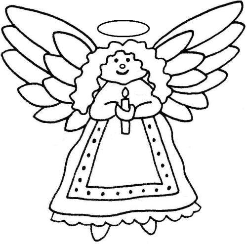 Christmas Angel Black And White Clipart - Clipart Kid